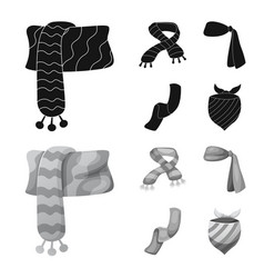 Isolated object of scarf and shawl icon vector