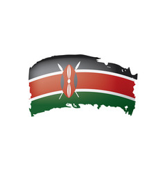 Kenya flag on a white vector