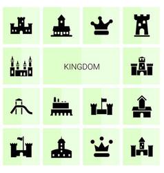 kingdom icons vector image