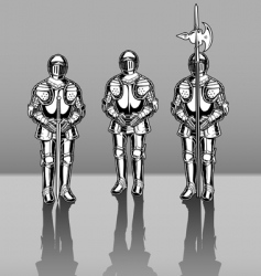 Knights in armor vector image