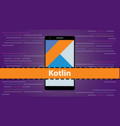 Kotlin mobile application programming language vector