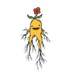 Mandrake Roots Hand Drawn Character vector image