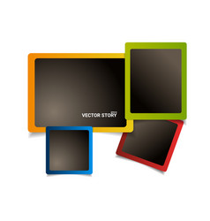 modern colorful photo frames design set new vector image