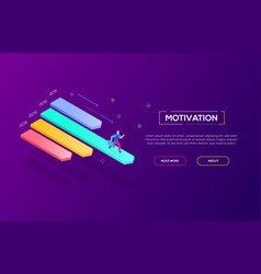Motivation concept - modern isometric web vector