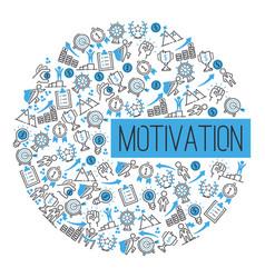 motivation success motivate concept pattern vector image