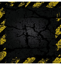 old shabby frame with yellow and black stripes vector image