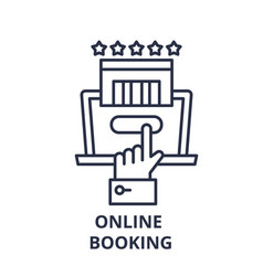 online booking line icon concept online booking vector image