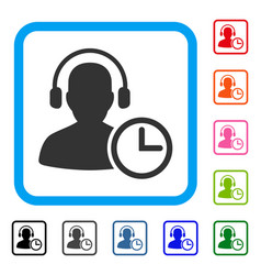 operator time framed icon vector image
