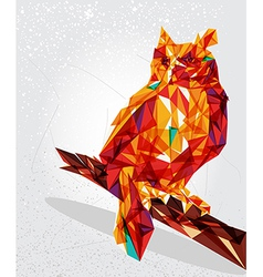 Owl bird geometric vector image