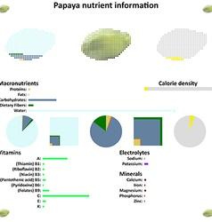 Papaya nutrient information vector
