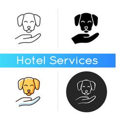 Pet friendly icon vector