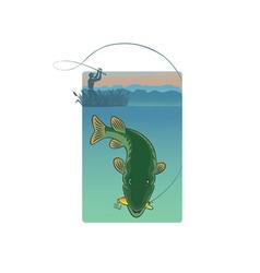 Pike fishing vector