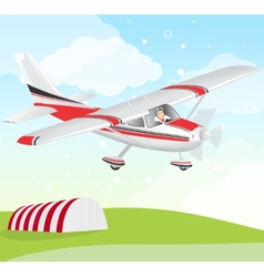 Plane with pilot vector image