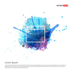 programming code icon - watercolor background vector image