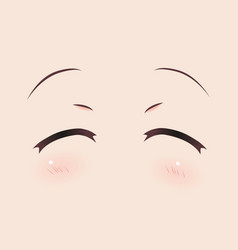 Real smiling anime eyes manga girls vector