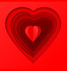 romantic papercut elegant background vector image