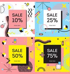 Sale concept memphis style vector