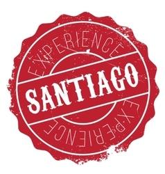 Santiago stamp rubber grunge vector image