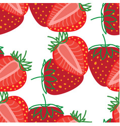 Seamless pattern strawberrys design colorful vector