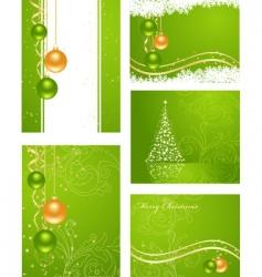 Set christmas backgrounds vector