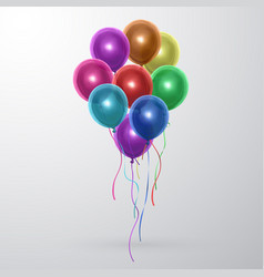 set of transparent balloons colorful vector image