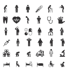 Sick and medical icons People health care vector image