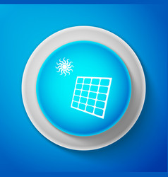solar energy panel icon on blue background vector image