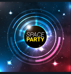 Space party banner background vector