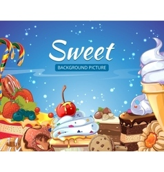 Sweets abstract background with candy vector