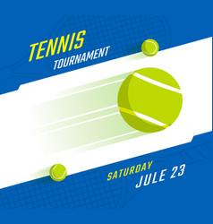 Tennis championship poster vector