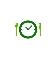 time food logo icon design vector image