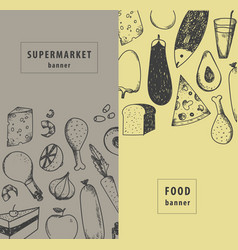 vintage food supermarket vector image