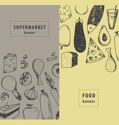 vintage food supermarket vector image