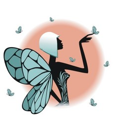 A fairy silhouette vector image vector image