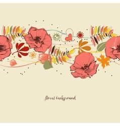 Flowers background Autumn leaves and foliage vector image vector image
