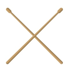 pair of drumsticks icon vector image