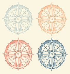 Set of vintage graphic compasses vector image