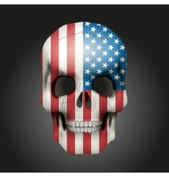 Skull with USA flag vector image