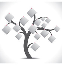 white paper note tree vector image vector image