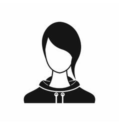 Woman icon simple style vector image vector image