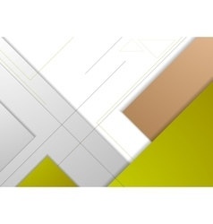 Abstract corporate geometric background vector image