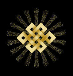 gold endless knot vector image vector image
