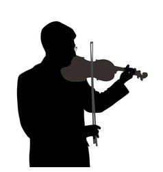 male violinist vector image vector image