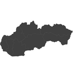 map of slovakia split into regions vector image vector image