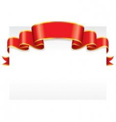 paper with ribbon vector image vector image