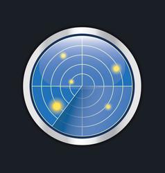 radar screen hud interface element vector image vector image