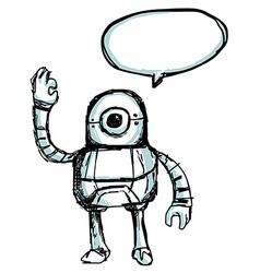robotsketch vector image vector image