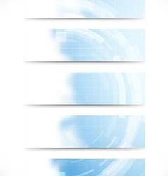 Technology gear abstract cards collection vector image vector image