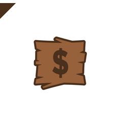 wooden alphabet blocks with dollar symbol vector image