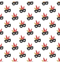 Carnival mask pattern seamless vector image